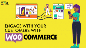 WooCommerce graphic for engaging with customers