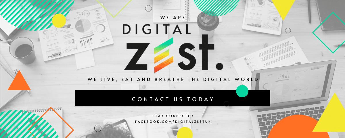 Digital Zest - Contact us graphic